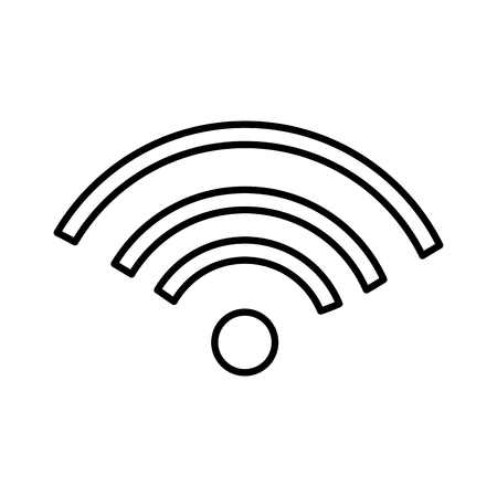 wifi cellphone signal isolated icon vector illustration design