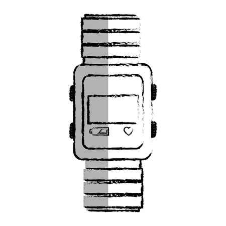 time smartwatch isolated icon vector illustration design Stock Vector - 75977059