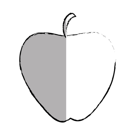 dieting: apple fruit isolated icon vector illustration design