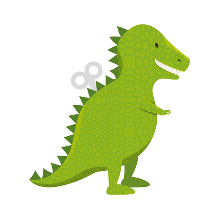t-rex dinosaur toy icon vector illustration design Illustration