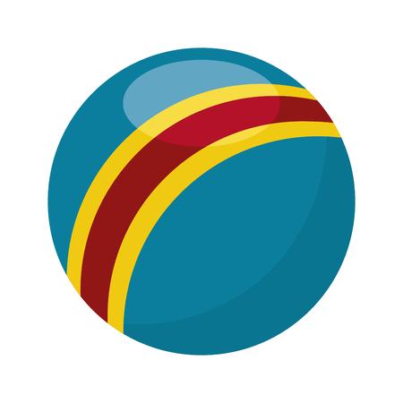 balloon plastic isolated icon vector illustration design