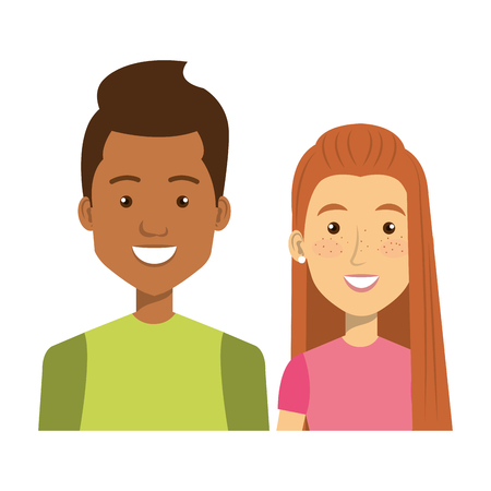 young people style characters vector illustration design