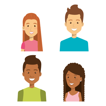 personality: young people style characters vector illustration design