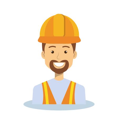 Professional construction man character vector illustration design.