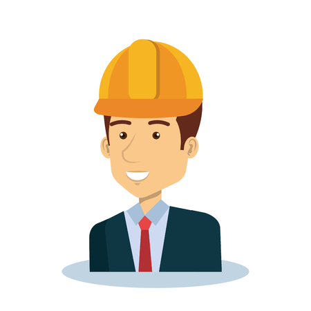 Professional construction man character vector illustration design 版權商用圖片 - 76041262
