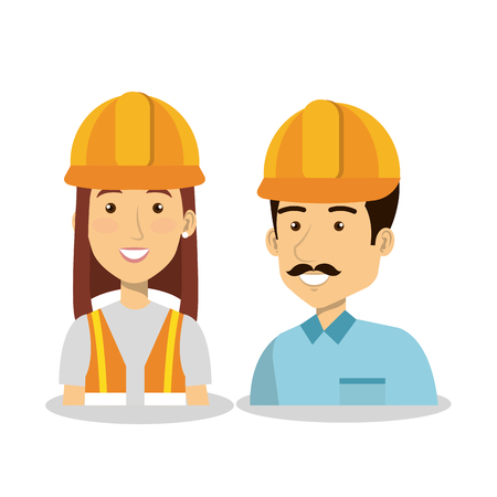 architect tools: Professional construction people characters