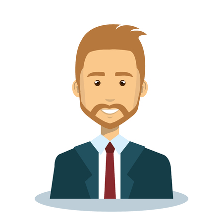 zakenman avatar karakter pictogram vectorillustratieontwerp