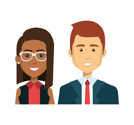 businesspeople avatars characters icon vector illustration design