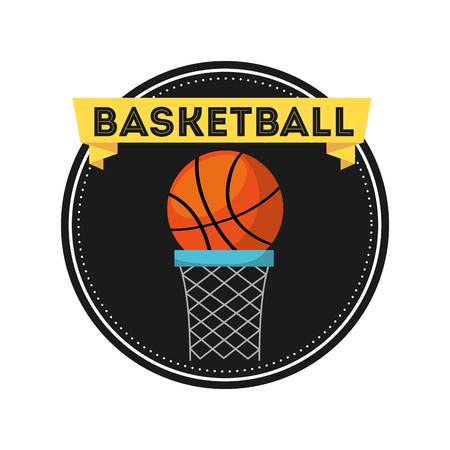 Baloncesto deporte emblema icono vector ilustración diseño