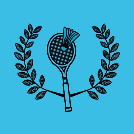 badminton sport emblem icon vector illustration design Illustration
