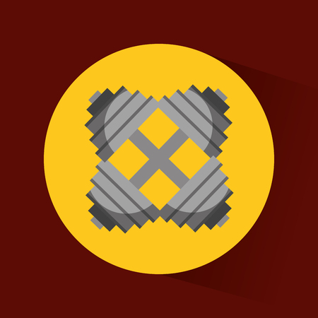 dumb: weight lifthing dumbbel icon vector illustration design