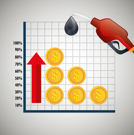 Oil prices infographics icon vector illustration design Çizim