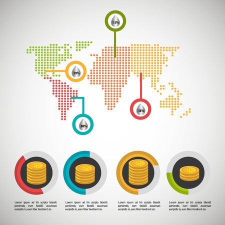 oil prices infographics icon vector illustration design