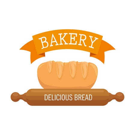 bakery shop label icon vector illustration design