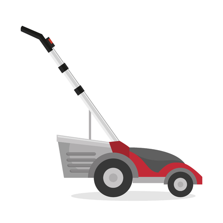 Lawn mower isolated icon vector illustration design Illustration