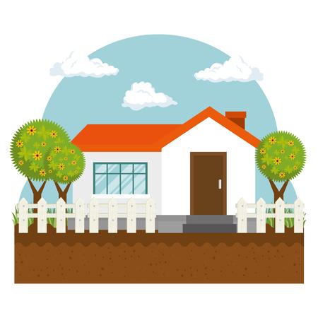 farm cute house icon vector illustration design Reklamní fotografie - 76229263