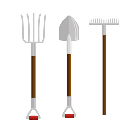 gardening set tools icons vector illustration design