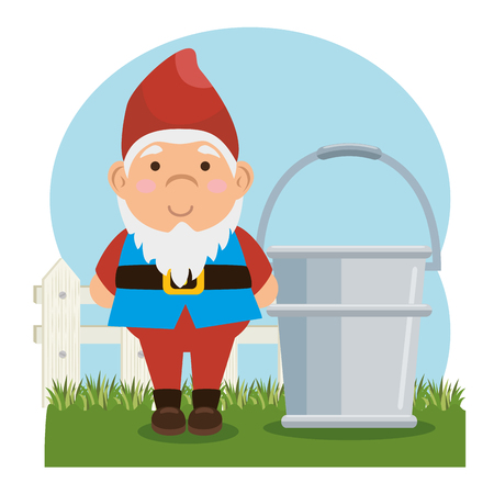 garden elf decorative icon vector illustration design