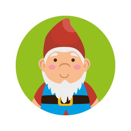 garden elf decorative icon vector illustration design