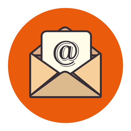postal card: envelope mail concept isolated icon vector illustration design