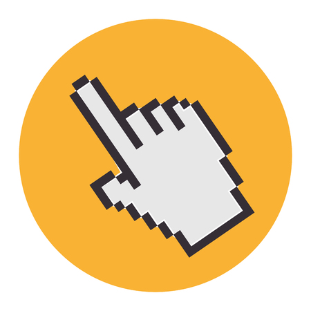 hand mouse pointer icon vector illustration design Ilustrace