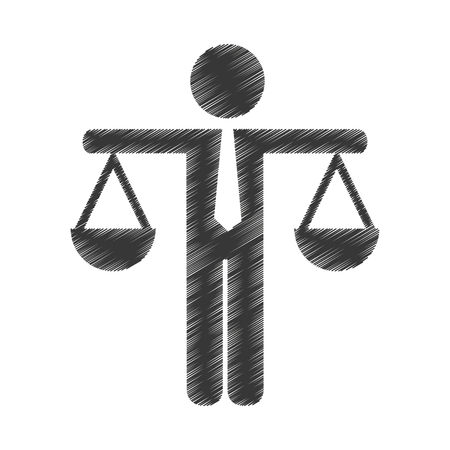 comparing: justice balance isolated icon vector illustration design