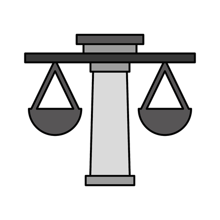 scale icon: justice balance isolated icon vector illustration design