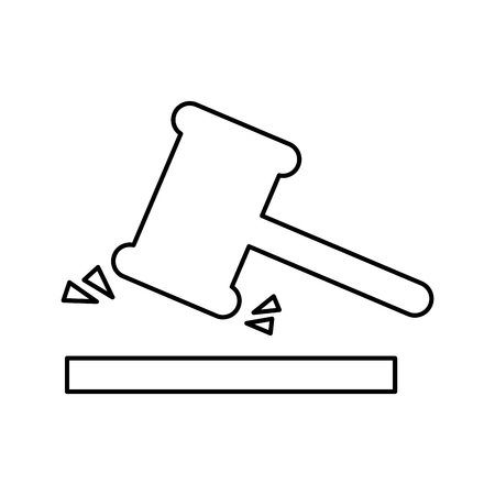 justice gavel isolated icon vector illustration design 向量圖像
