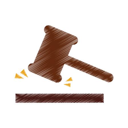 justice gavel isolated icon vector illustration design Illustration