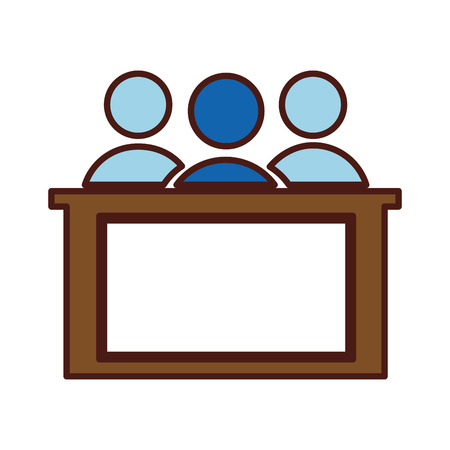 jury silhouette isolated icon vector illustration design