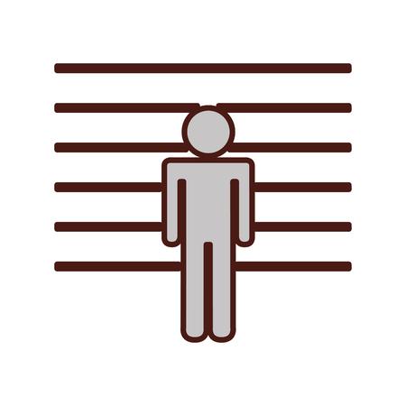 prisoner silhouette isolated icon vector illustration design Illustration