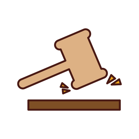 justice gavel isolated icon vector illustration design Çizim