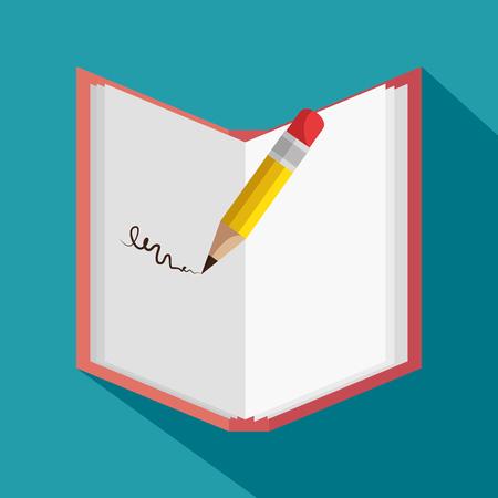 text book school icon vector illustration design Ilustração