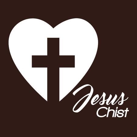cross religious isolated icon vector illustration design