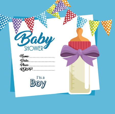 baby shower invitation card vector illustration design Ilustração