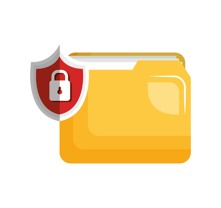 security data information flat icons vector illustration design
