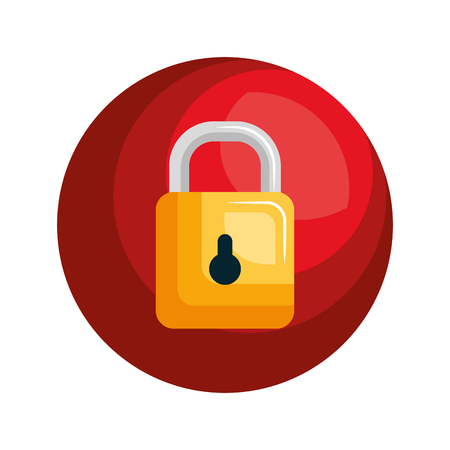 security symbol padlock isolated icon vector illustration design