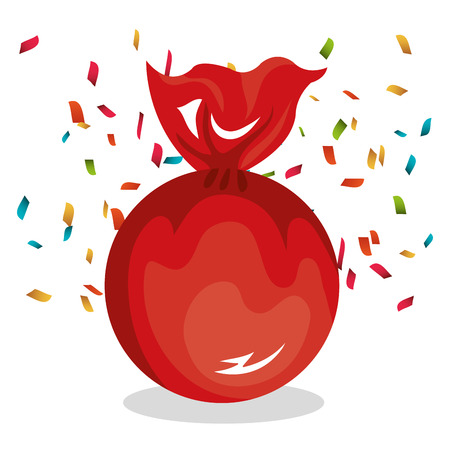 big red candy icon design vector illustration