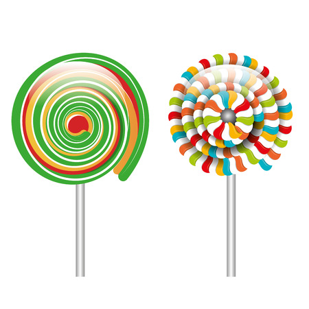 cartoon lollipop spiral graphic isolated vector illustration