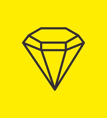 crystal background: silhouette diamond luxury gem icon design vector illustration eps 10 Illustration