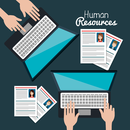 human resources search isolated vector illustration
