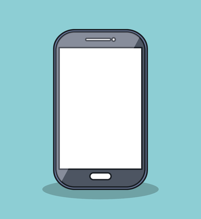 touchpad: smartphone icon digital technology isolated vector illustration eps 10