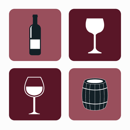 set wine label design isolated vector illustration eps 10