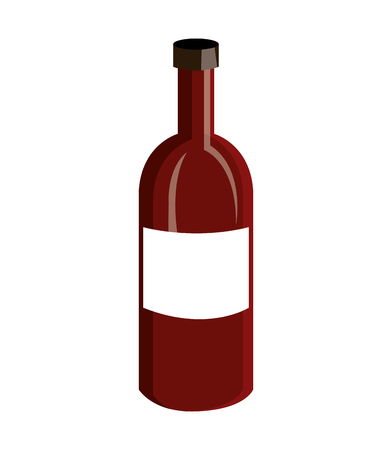 wine label design isolated vector illustration
