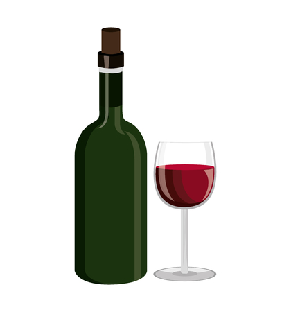 wine label design isolated vector illustration eps 10