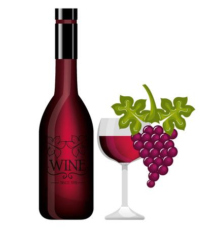 spill: Wine label design isolated vector illustration eps 10