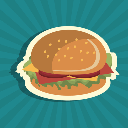 burger fast food design isolated vector illustration