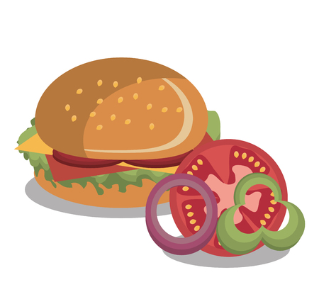 burger fast food design isolated vector illustration eps 10
