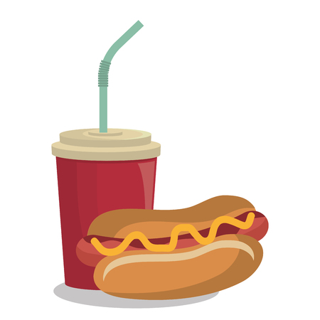 sesame: hot dog st food design isolated