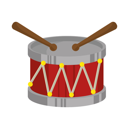 drum toy musical instrument vector illustration design 向量圖像